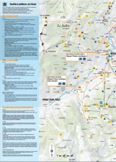 Plan des sentiers piétons / ski de fond